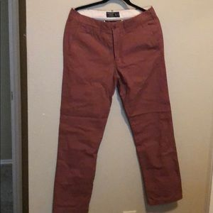 Burgundy color chino pants never used !
